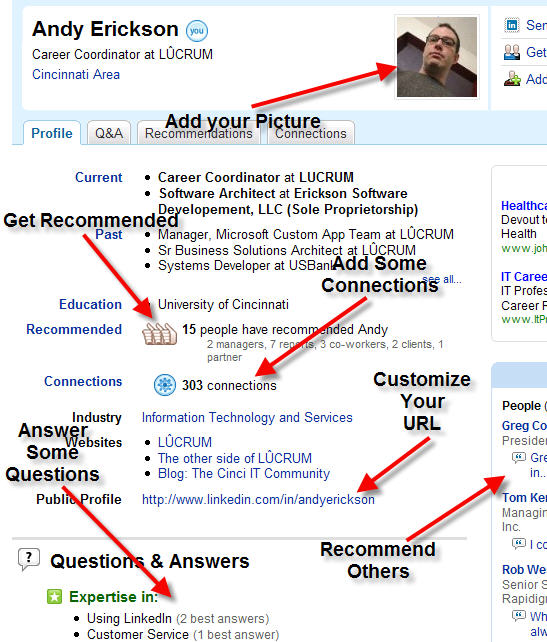 setting up LinkedIn Profile