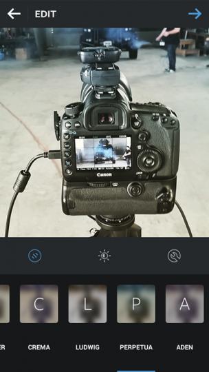 PERPETUA Instagram Filter example