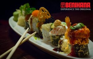 benihana sushi food photography