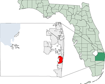 boynton beach florida map