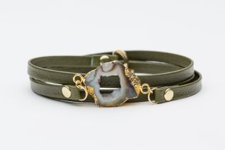 leather bracelet with stone product photo