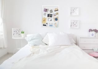 composite product photo into bedroom