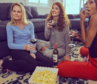 girls and wine party