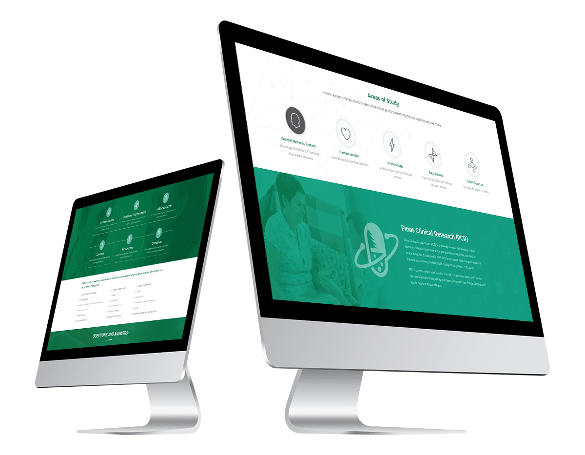 pines clinical website design