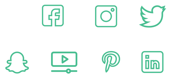 Facebook Twitter Pinterest Snapchat Youtube more